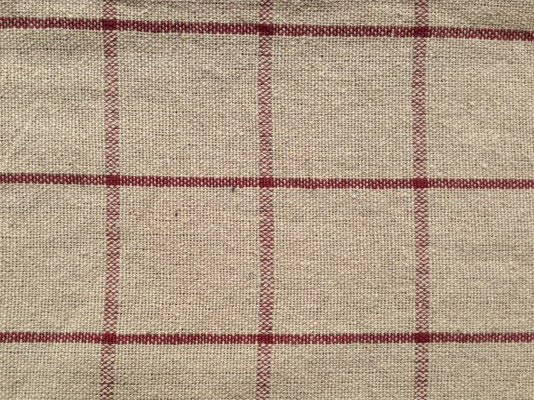 TAN CRANBERRY CHECK SHOWER CURTAIN 72X72